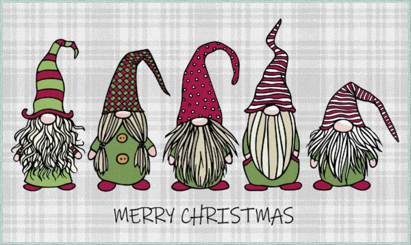 Mohawk Prismatic Christmas Gnomes Grey