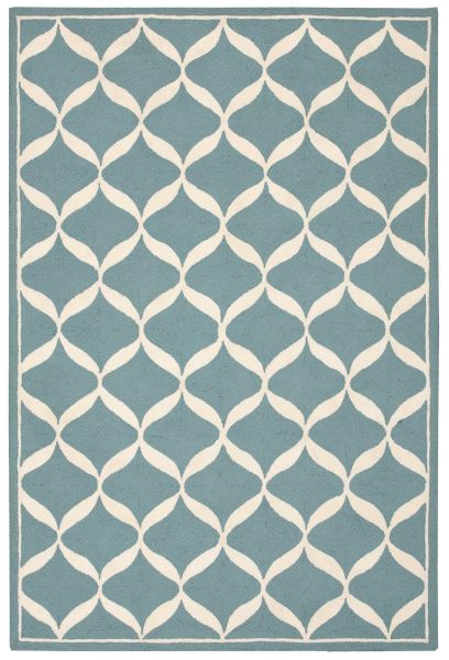 Nourison Decor Aqua/White
