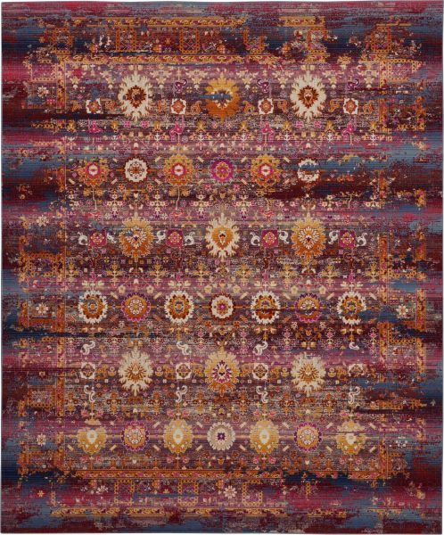 Nourison Vintage Kashan Red/Multicolor