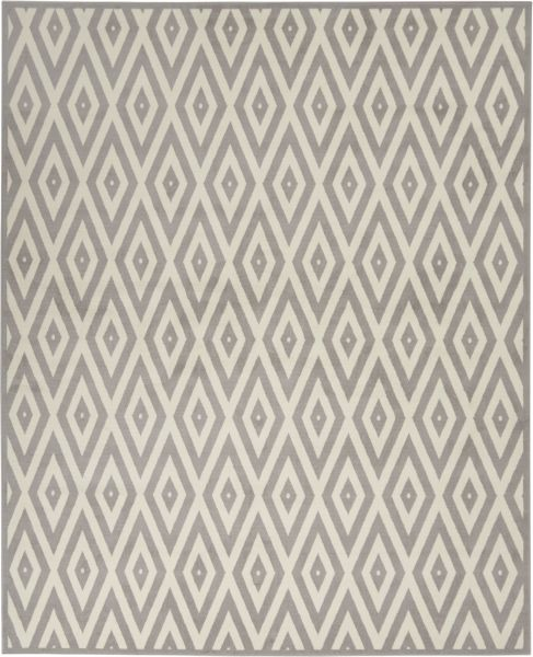 Nourison Grafix White/Grey