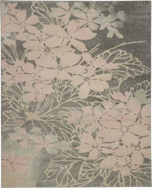 Nourison Tranquil Grey/Pink