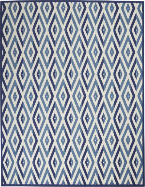Nourison Grafix White Blue