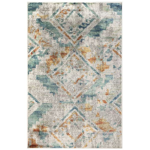 Liora Manne Horizon Mosaic Diamond Blue