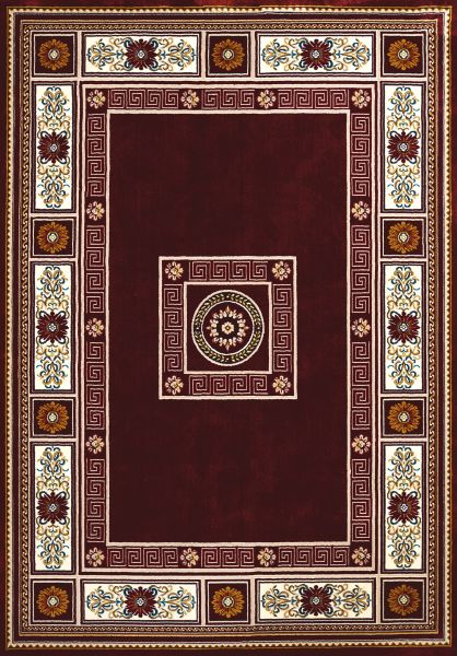 "United Weavers Antiquities Oriental Border Ruby 2'3"" x 7'2"" Runner Collection"