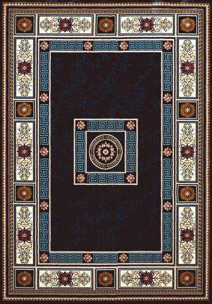 "United Weavers Antiquities Oriental Border Navy 5'3"" x 7'2"" Collection"