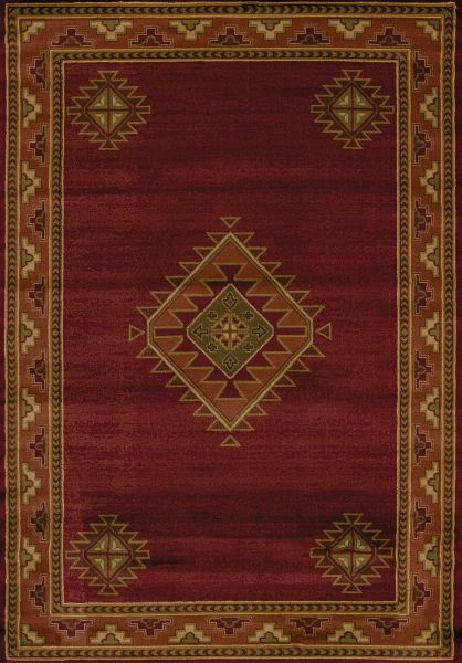 "United Weavers Genesis Laramie Burgundy 1'11"" x 7'4"" Runner Collection"