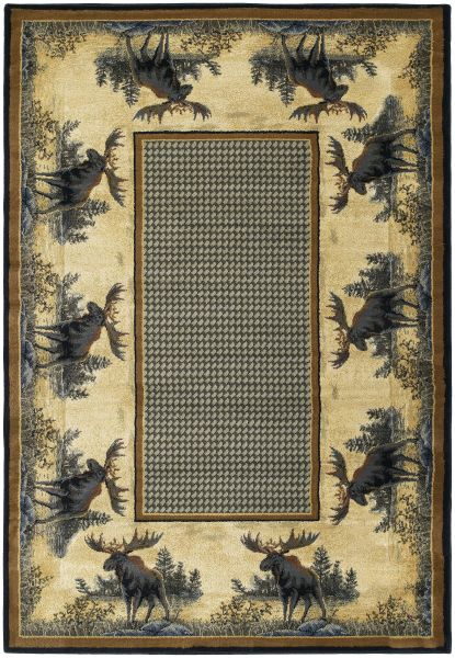 "United Weavers Hautman Genesis Northwood Moose Natural 1'11"" x 7'4"" Runner Collection"
