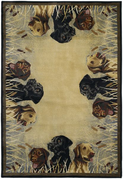 "United Weavers Hautman Genesis Labs in Marsh Natural 3'11"" x 5'3"" Collection"