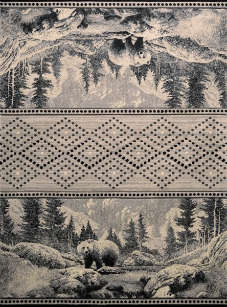 United Weavers Designer Contours Cem Sedona Bear Silver Collection