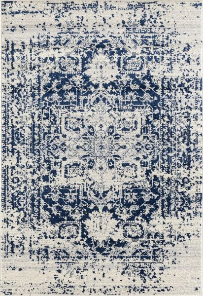 "United Weavers Abigail Lileth Midnight Blue 2'7"" x 7'2"" Runner Collection"