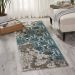 Nourison Karma Ivory/Blue Room Scene