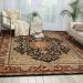 "Nourison 2000 Traditional, Black 7'9"" x 9'9"" Room Scene"