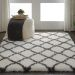 Nourison Luxe Shag White Room Scene