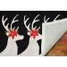 Liora Manne Frontporch Reindeer Black Room Scene
