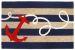 Liora Manne Frontporch Anchor Navy Collection