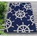 Liora Manne Frontporch Ship Wheel Navy Room Scene