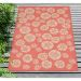 "Liora Manne Terrace Casual Orange 3'3"" x 4'11"" Room Scene"