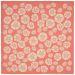 "Liora Manne Terrace Casual Orange 7'10"" x 7'10"" Square Collection"