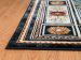 "United Weavers Antiquities Oriental Border Navy 5'3"" x 7'2"" Room Scene"