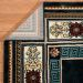 "United Weavers Antiquities Oriental Border Navy 2'7"" x 3'11"" Room Scene"