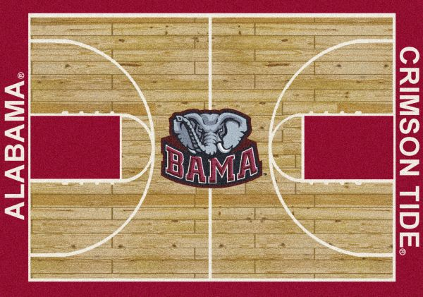 "Milliken College Home Court Alabama Tan/Crimson/Gray 7'8"" x 10'9"" Collection"