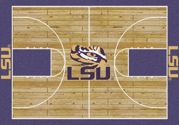 "Milliken College Home Court LSU Multi 5'4"" x 7'8"" Collection"