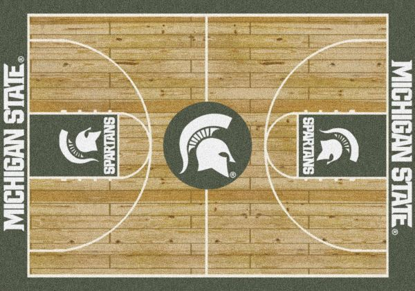 "Milliken College Home Court Michigan State Multi 3'10"" x 5'4"" Collection"