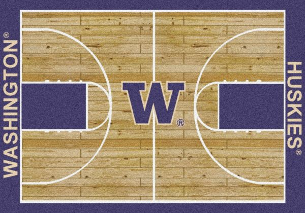 "Milliken College Home Court Washington Multi 3'10"" x 5'4"" Collection"