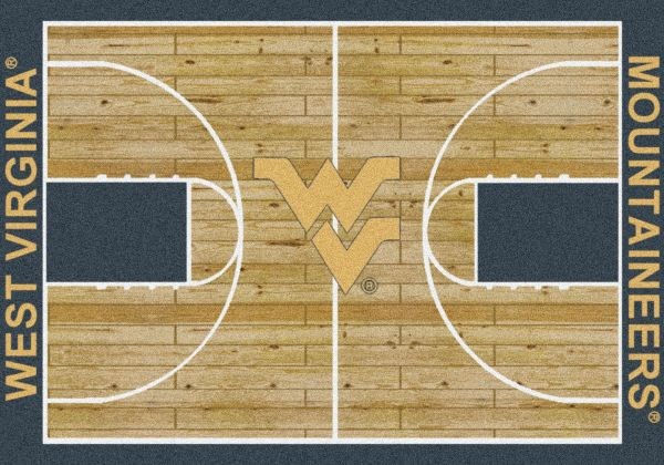 "Milliken College Home Court West Virginia Multi 5'4"" x 7'8"" Collection"