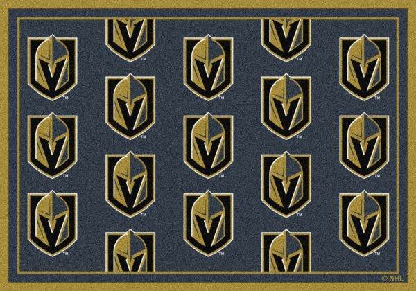 "Milliken NHL Team Repeat Vegas Golden Knights Multi 5'4"" x 7'8"" Collection"