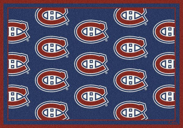 "Milliken NHL Team Repeat Montreal Canadians Multi 10'9"" x 13'2"" Collection"