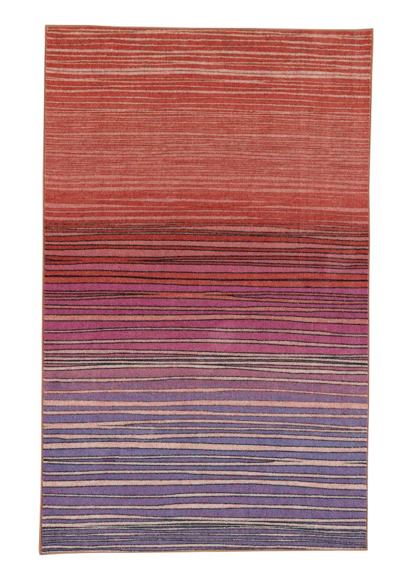 "Mohawk Prismatic Horizon Line Sunset Multi 5'0"" x 8'0"" Collection"