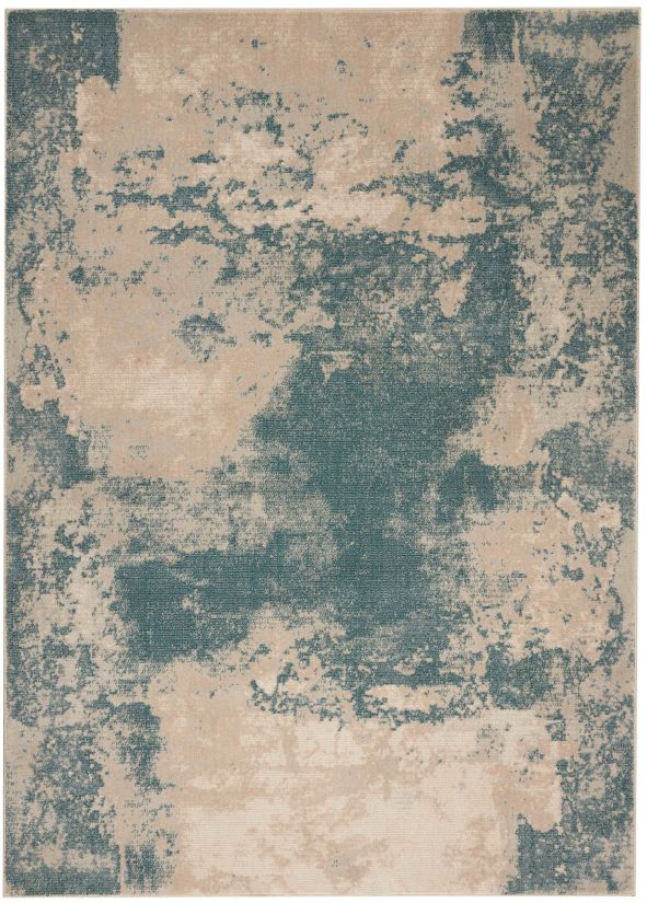 Nourison Maxell Ivory/Teal Collection