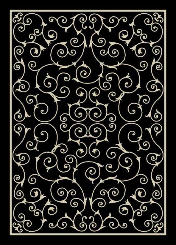 Nourison Home & Garden Black Collection