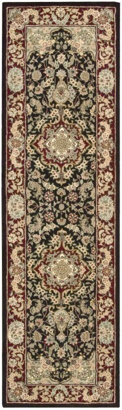 "Nourison 2000 Traditional, Black 2'3"" x 8'0"" Collection"