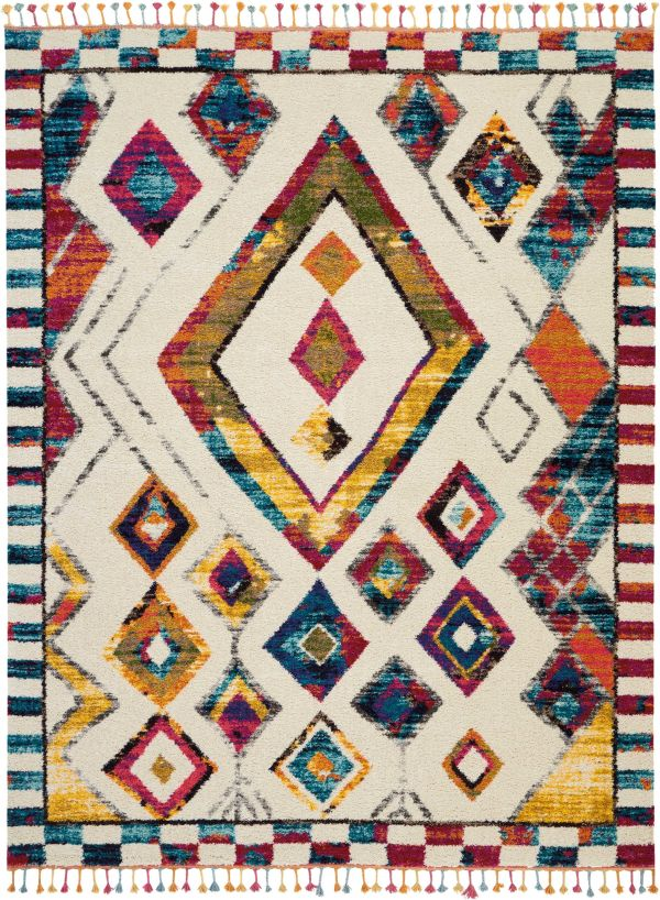 Nourison Nomad Ivory/Multicolor Collection