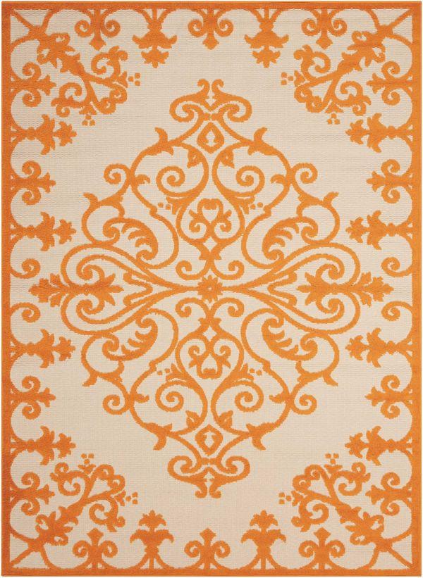 Nourison Aloha Orange Collection
