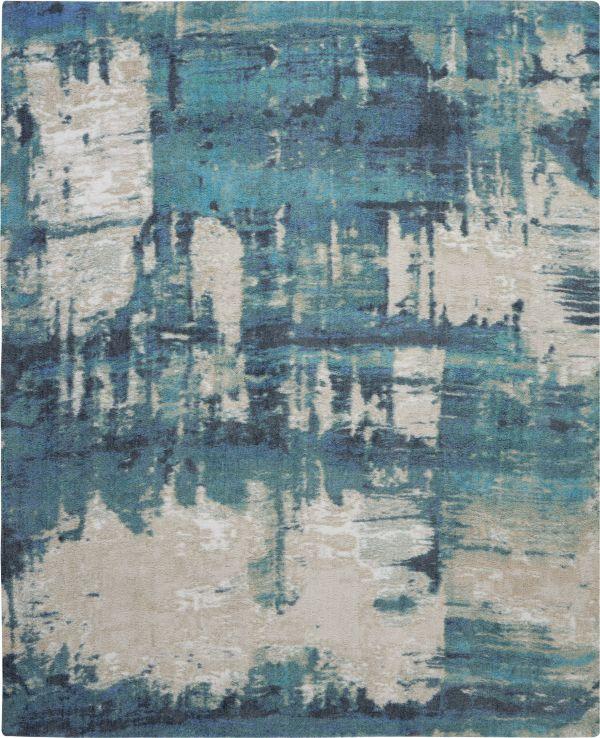 Nourison Corsica Shag Blue Collection