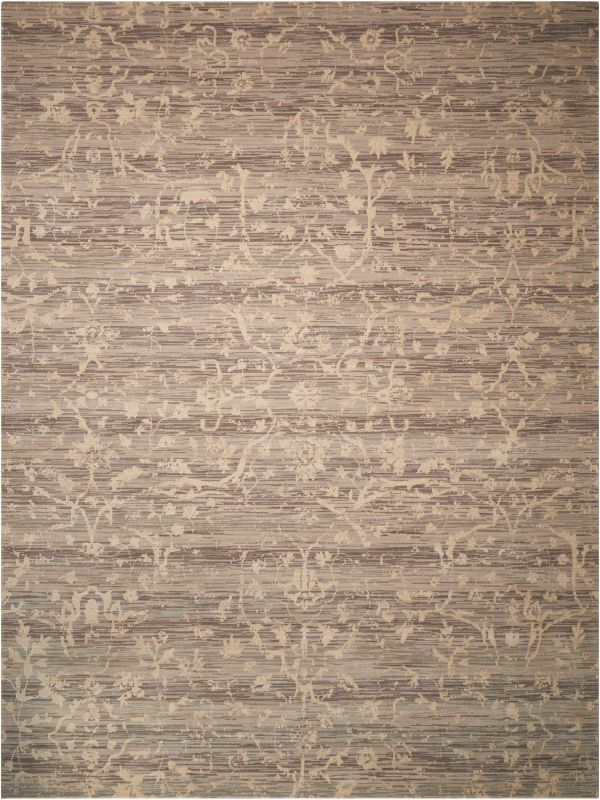 Nourison Silk Elements Taupe Collection