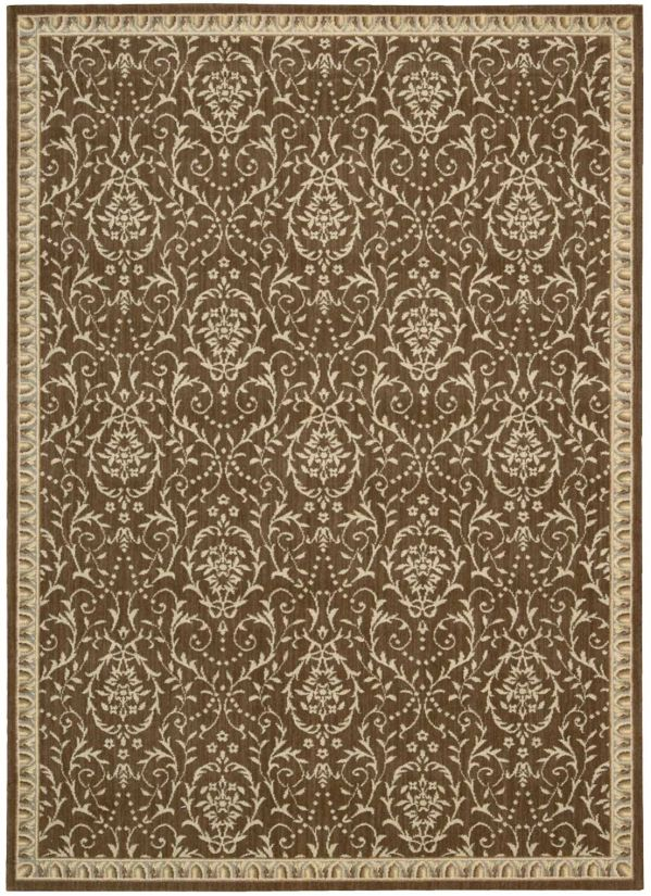 Nourison Riviera Traditional, Transitional, Chocolate Collection