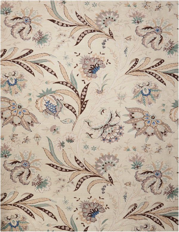 Nourison Gatsby Floral/Botanical, Traditional, Ivory Collection