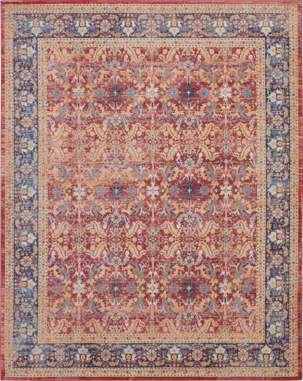 Nourison Ankara Global Red Collection