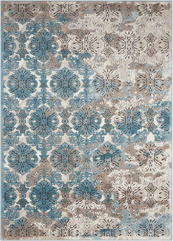 Nourison Karma Ivory/Blue Collection