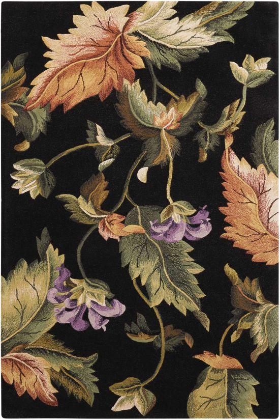 Nourison Tropics Black Collection