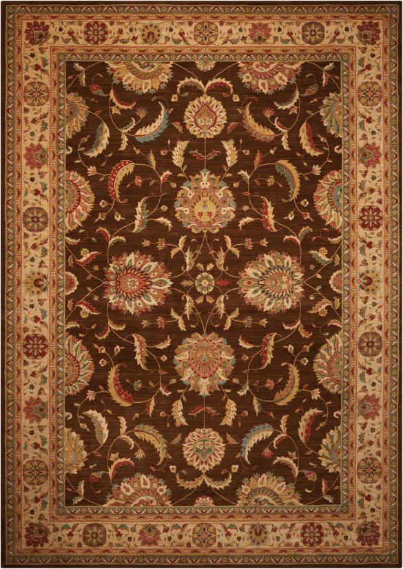Nourison Living Treasures Brown Collection