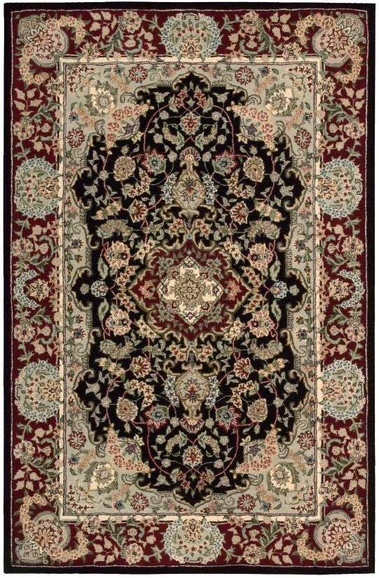 """Nourison 2000 Traditional, Black 3'9"""" x 5'9"""" Collection"""