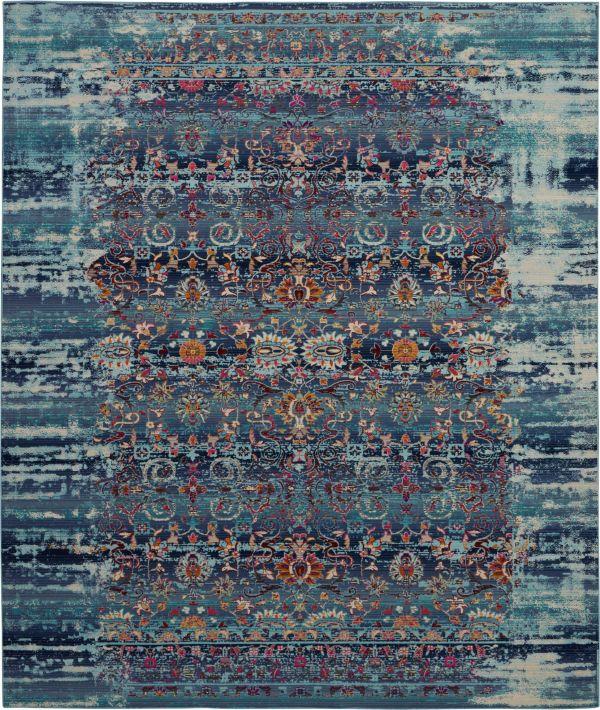 Nourison Vintage Kashan Blue Collection