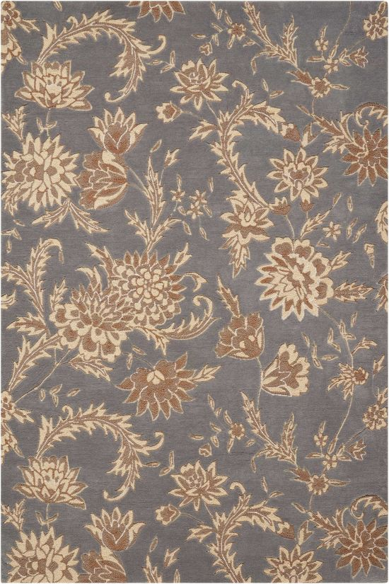 Nourison Gatsby Floral/Botanical, Traditional, Slate Collection