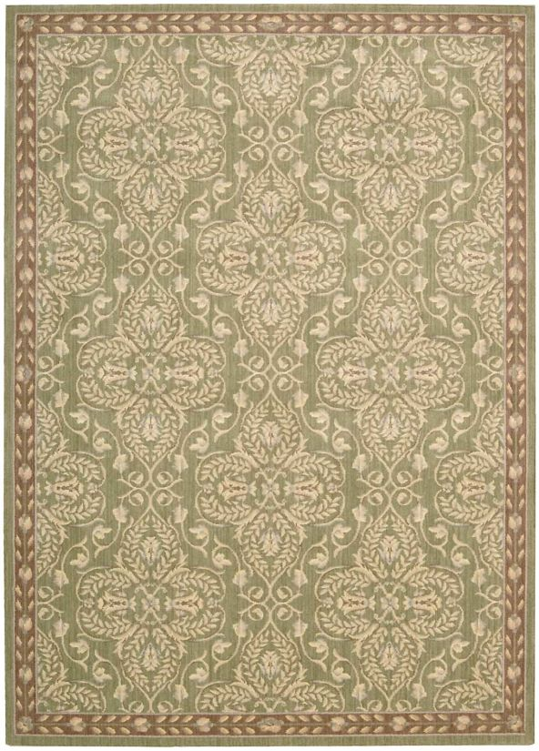 Nourison Riviera Traditional, Transitional, Green Collection