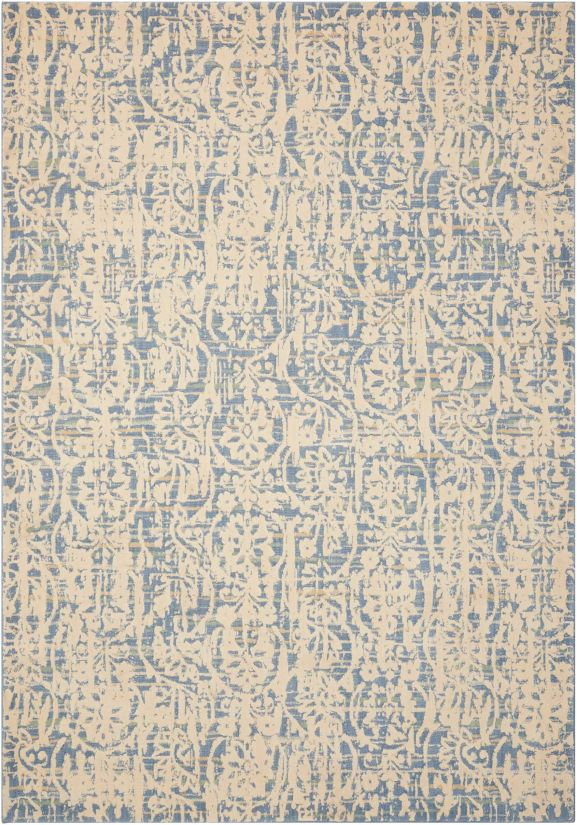 Nourison Nepal Transitional, Ivory/Blue Collection